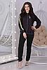 Демисезонный женский повседневный трикотажный костюм спортивного стиля с лампасами, фото 5