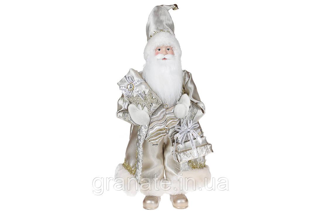 Новогодняя кукла игрушка Санта 46см, цвет - бежевый