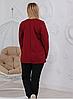 Женский повседневный костюм из стеганного и французского трикотажа Бежевый размеры 48-56, фото 2