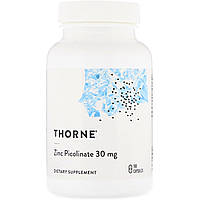Цинк Пиколинат, Thorne Research, Zinc Picolinate, 30 mg , 180 капсул