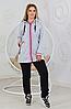 Женский утепленный костюм с удлиненной курткой размеры 50, 52, 54, фото 4