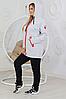 Женский утепленный костюм с удлиненной курткой размеры от 48 до 58, фото 3