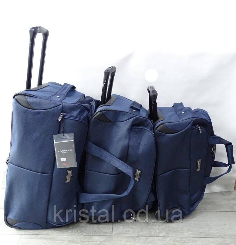 """Дорожня сумка на колесах трійка 60*37 див. серії """"Gold"""" №8212"""