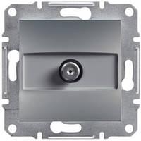 Розетка SAT оконечная 1дБ цвет сталь Asfora EPH3700162