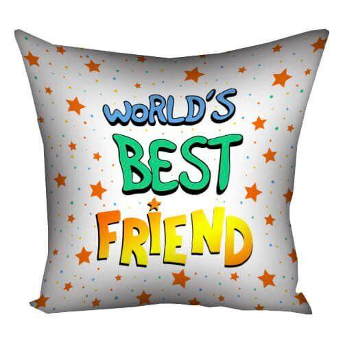 Подушка для друга Present (40x40)  «Worlds best friend» UA 3P_18M010