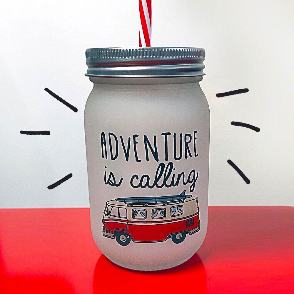 Банка c трубочкой Present «Adventure is calling» JA_20L017_KR