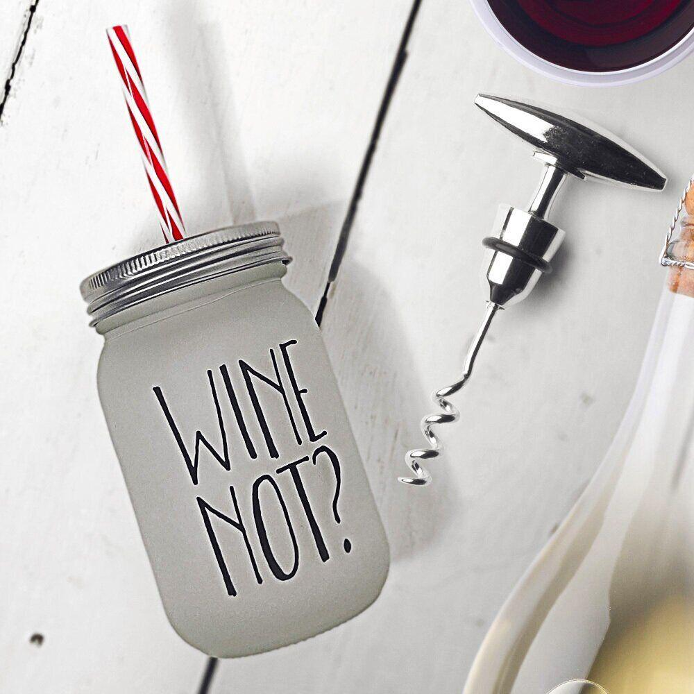 Банка c трубочкой Present «Wine not?» JA_20L030_KR