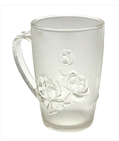 Чашка прозора матова №963 троянда скло 250мл. (48)