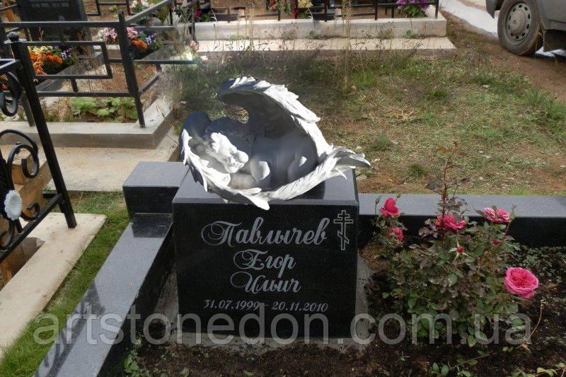 Ангелочек на могилу. Памятник детский с ангелочком