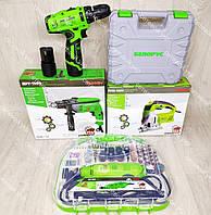 Комплект Белорусских инструментов: Гравер, Дрель, Лобзик электрический, Аккумуляторный шуруповерт