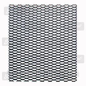 Сетка бампера без упаковки черная 1м х30 см Elegant  №6