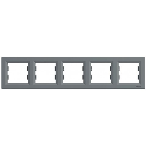 Рамка 5-постовая горизонтальная цвет сталь Asfora Schneider EPH5800562
