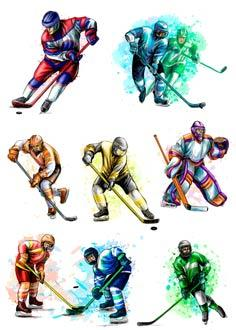 "Вафельна картинка ""Хокей"""