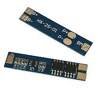 BMS контролер заряду-розряду для 2-х Li-Ion акумулятора 18650 HX-2S-01 7A 7.4 V - Розпродаж
