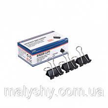 Затискач для паперу 25 мм (1 шт) біндер металевий / Биндер 25 мм металлический