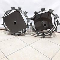 Колеса з грунтозацепами 450/150(Смуга 4*15мм) з віссю 32/170мм м'який хід Булат