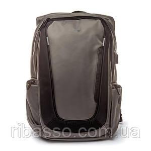 Рюкзак чоловічий міській з USB Madrid BST 320002 30х15х47 див. сірий