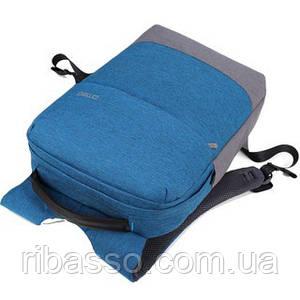 Рюкзак мужской городской BST 320025 44х30х9 см.голубой