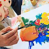 Многофункциональный Набор Кистей для Рисования В Кейсе 17 шт Подходят для Масла, Акрила, Акварели, Гуаши, фото 7