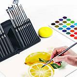 Многофункциональный Набор Кистей для Рисования В Кейсе 17 шт Подходят для Масла, Акрила, Акварели, Гуаши, фото 3