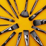 Многофункциональный Набор Кистей для Рисования В Кейсе 17 шт Подходят для Масла, Акрила, Акварели, Гуаши, фото 6