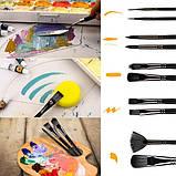 Многофункциональный Набор Кистей для Рисования В Кейсе 17 шт Подходят для Масла, Акрила, Акварели, Гуаши, фото 10