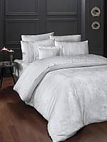 Комплект постельного белья First Choice Buhara Beyaz VIP Moonlight Satin 200x220 см(евро)