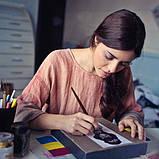 Набор Тонких Кистей 9 шт для Акриловых Красок Transon из Премиум Нейлона, Миниатюрные Кисти для Художки, фото 8