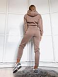 Теплый женский спортивный костюм с капюшоном 39-542, фото 8