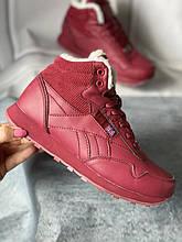 Зимние новые вишневые кроссовки, ботинки на меху