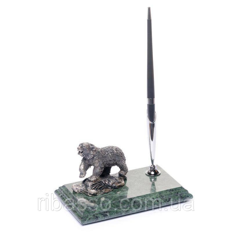 BST Подставка для ручки 540011 16х10 мраморная Медведь