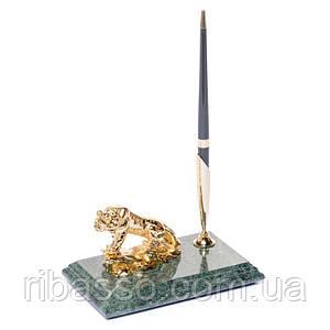 Подставка для ручки16х10 мраморная Тигр