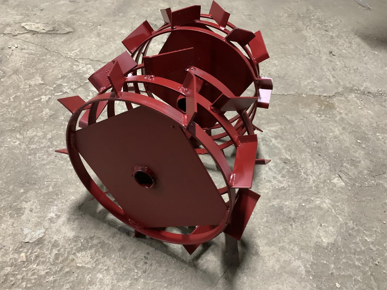 Колеса з грунтозацепами 400/150(Смуга 4*15) МБ з піввіссю 32мм (3мм товщ пластини) Булат