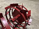 Колеса с грунтозацепами 400/150(Полоса 4*15) МБ с полуосью 32мм (3мм толщ пластины) Булат, фото 3