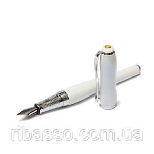 Ручка перьевая подарочная в футляре DUKE 600F-WH 138 мм жемчужная Chast Lady