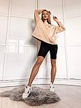 Теплая женская кофта oversize 39-577, фото 4