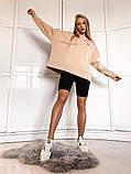Теплая женская кофта oversize 39-577, фото 5