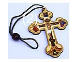 Підвіска хрест тисн. зол. (хрест 9см), фото 2