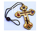 Подвеска крест тисн. зол. (крест 9см), фото 2
