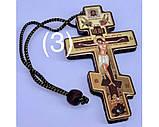 Подвеска крест тисн. зол. (крест 9см), фото 3