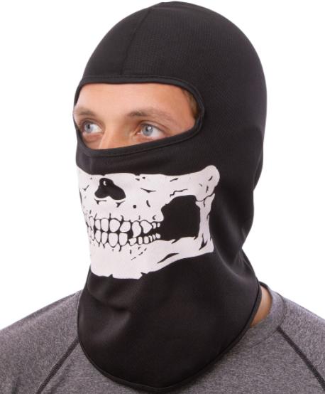 Підшоломник балаклава, маска Скелет (MS-4832) Чорно-білий