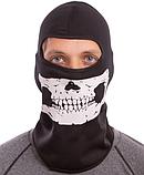 Підшоломник балаклава, маска Скелет (MS-4832) Чорно-білий, фото 2