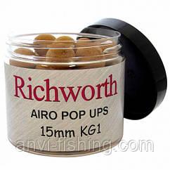 Плаваючі бойли Richworth Original Pop Ups - KG1 - 15 мм (200 мл)