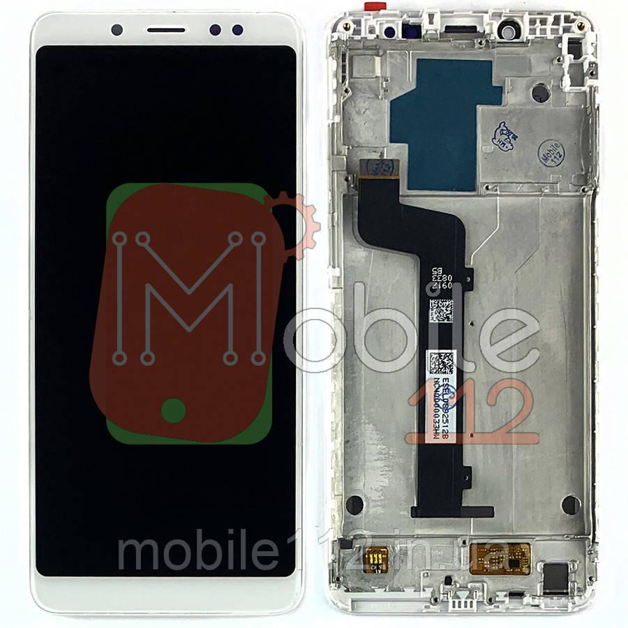 Экран (дисплей) Xiaomi Redmi Note 5, Redmi Note 5 Pro m1803e7sg + тачскрин белый с передней панелью