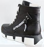 Ботинки женские зимние кожаные от производителя модель КЛ231Р, фото 4