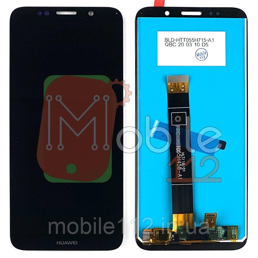 Экран (дисплей) Huawei Y5 2018 DRA-L21 DRA-L22 DRA-L02, Honor 7A DUA-L22 + тачскрин черный