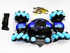 Машинка перевертыш STUNT HL-C019S на радиоуправлении, управление с руки, вращение 360° | Бирюзовый, фото 2