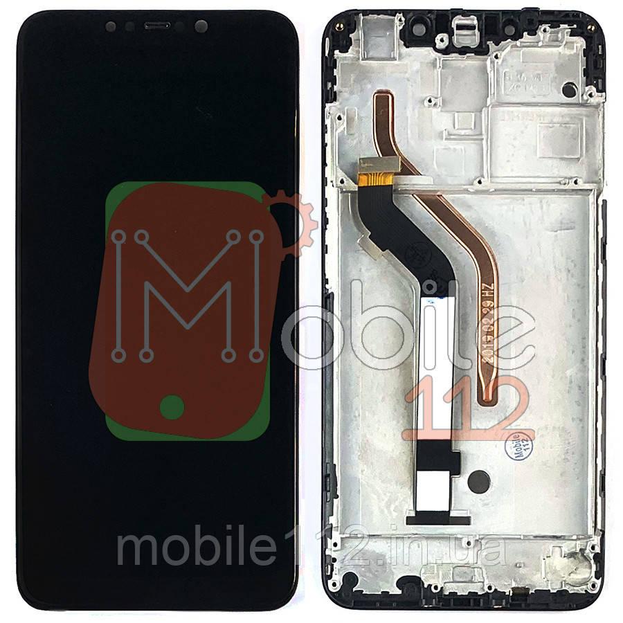 Экран (дисплей) Xiaomi Pocophone F1 M1805E10A + тачскрин черный с передней панелью
