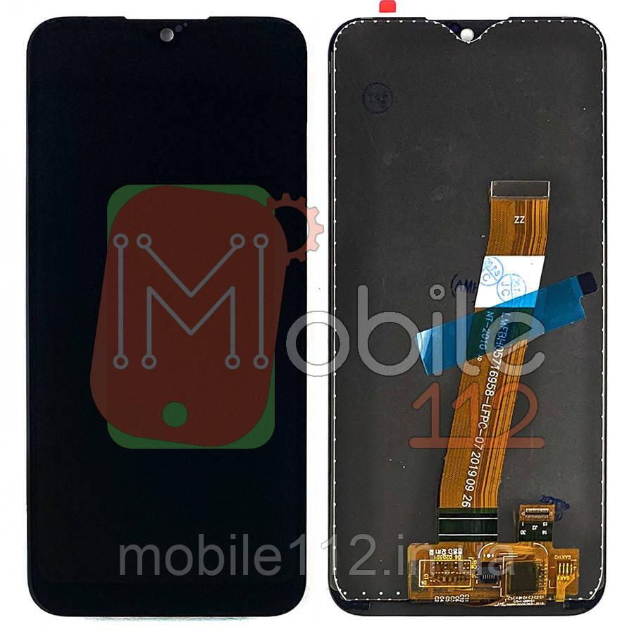 Экран (дисплей) Samsung Galaxy A01 A015, M01 M105 + тачскрин черный узкий разъем на шлейфе дисплея