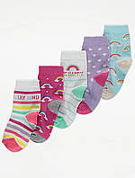 Набор детских носочков с радугами 5 пар Джордж для девочки